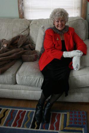 Grandma Wearing Mittens